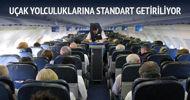 Uçak yolculuklarına standart