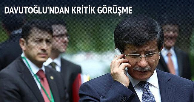 Başbakan Davutoğlu İbadi'yle telefonda görüştü