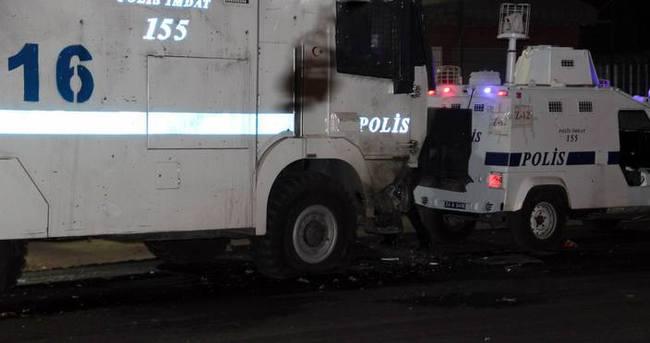 Diyarbakır'da polis aracına roketli saldırı!