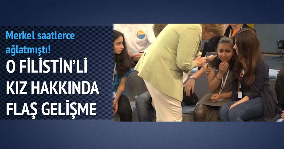 Merkel'in ağlattığı o kıza oturma izni