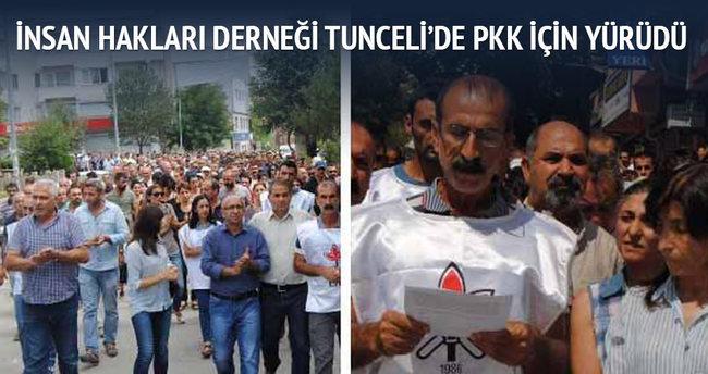 İnsan Hakları Derneği Tunceli'de PKK için yürüdü