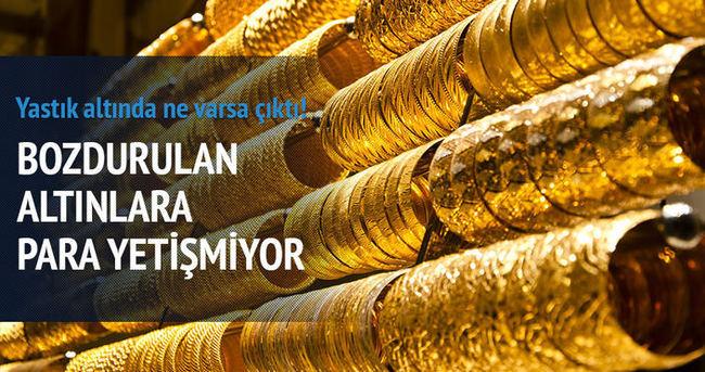 Kuyumcular bozdurulan altınlara para yetiştiremiyor