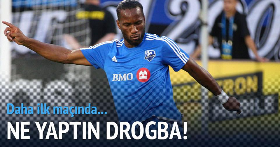 Drogba'dan ilk maçta şov!