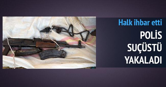 Terörist silahıyla suçüstü yakalandı