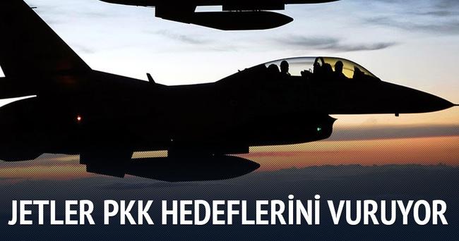 Jetler Dağlıca'da PKK hedeflerini vuruyor