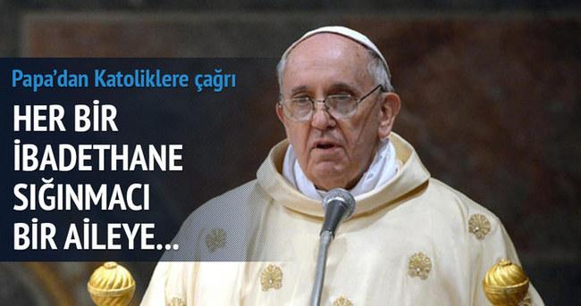 Papa'dan Katolik dünyasına sığınmacılar için çağrı