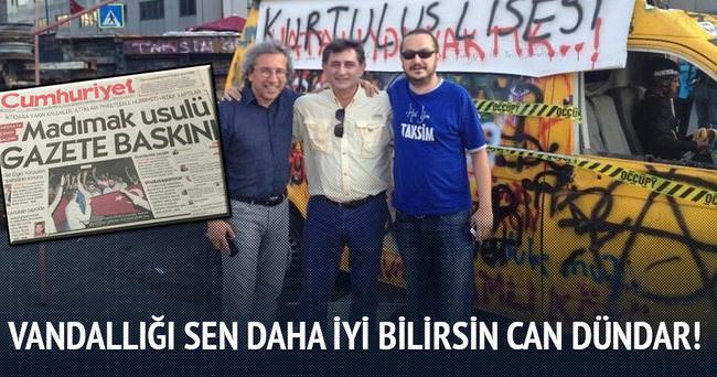 Can Dündar 200 kişilik protesto eylemini manşet yaptı