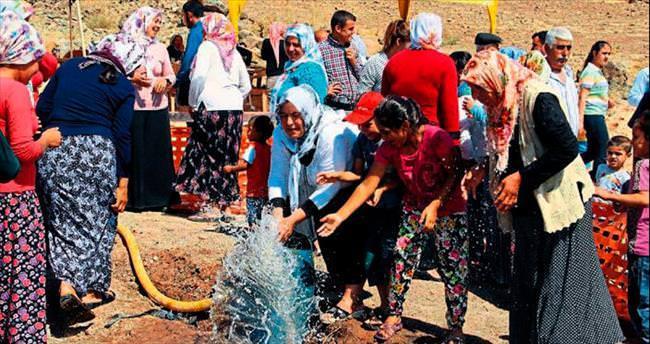 Ballık köylüleri su sevinci yaşadı