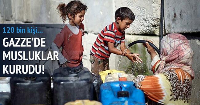 Gazze'de musluklar kurudu