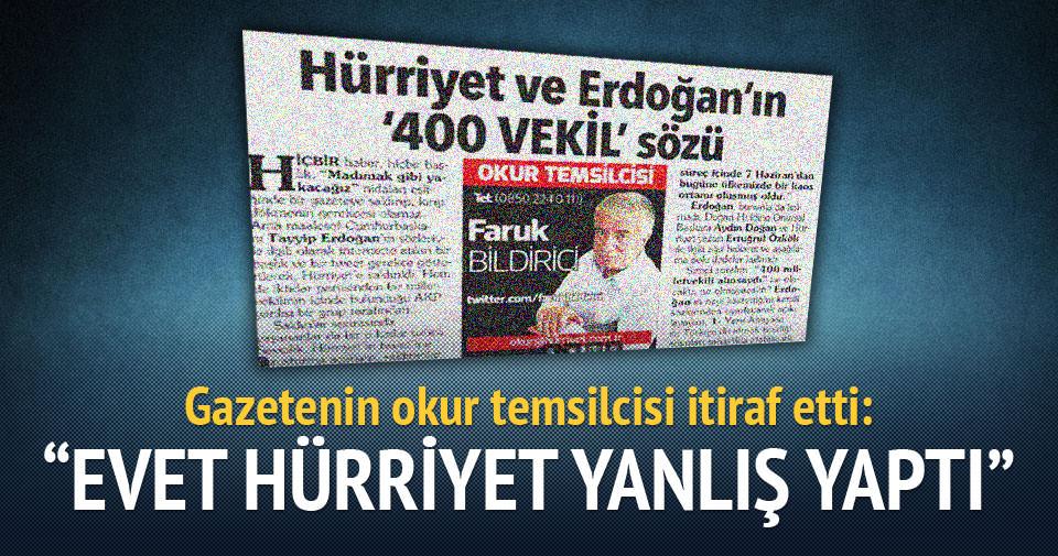 Gazetenin okur temsilcisi itiraf etti: Evet Hürriyet yanlış yaptı