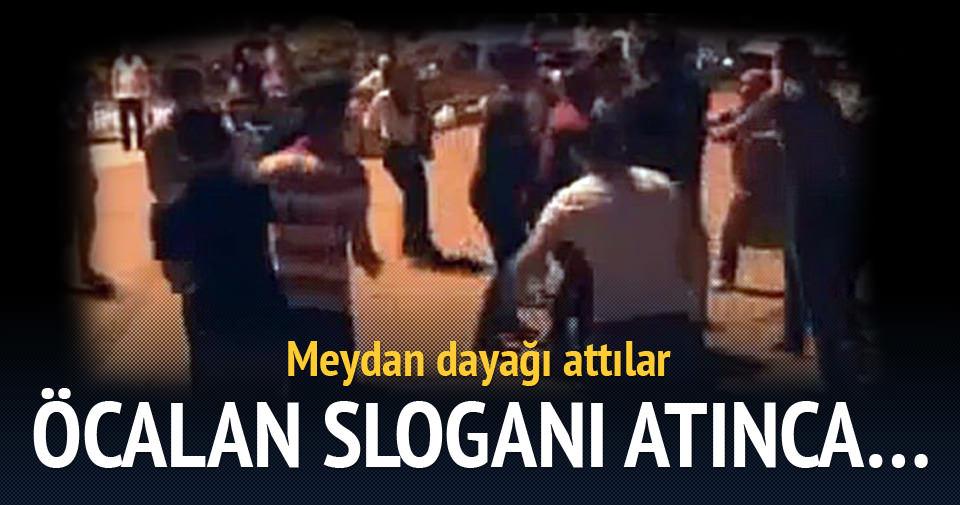 Öcalan sloganı atan HDP'liye meydan dayağı