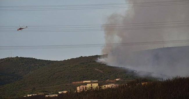 İstanbul'da askeri bölgede yangın