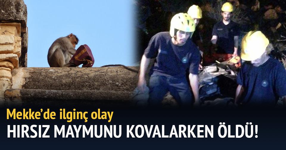 Türk hacı adayı hırsız maymunu kovalarken öldü