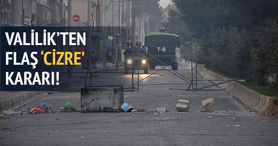 Cizre'de sokağa çıkma yasağı sona eriyor