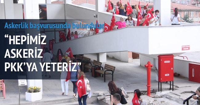 Ankaralı kadınlar askerlik için başvurdu