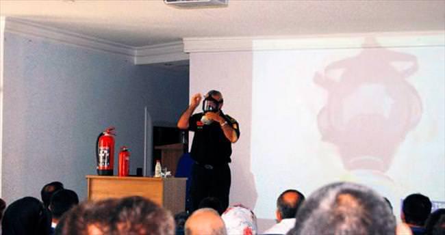 Jeotermalcilere yangın eğitimi
