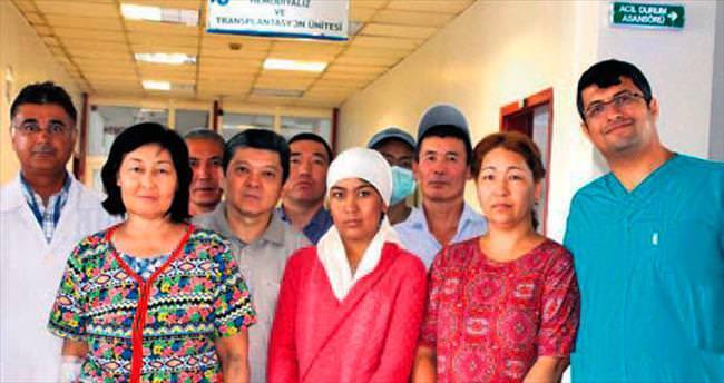 8 Kırgız hastaya art arda nakil