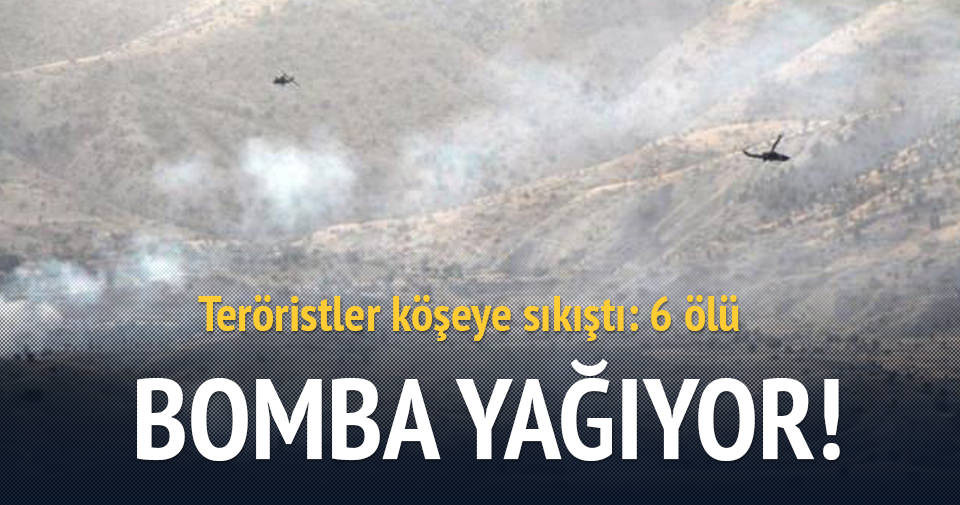 Saldırı sonrası PKK'lıları kobralar bombaladı!