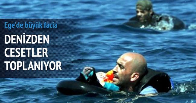 Ege'de kaçak teknesi battı: 14'ü çocuk 34 ölü