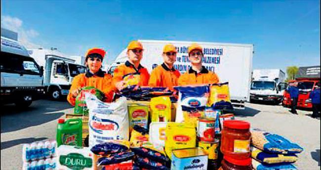 450 Türkmen aileye Büyükşehir yardımı