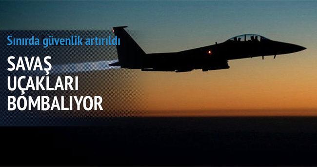 Savaş uçakları Kilis sınırında DAEŞ'i vuruyor