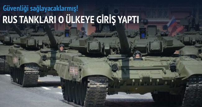 Rus tankları Suriye'de