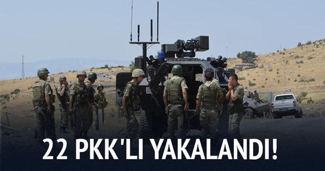 Zırhlı araç bombacılarına operasyon: 22 PKK'lı yakalandı