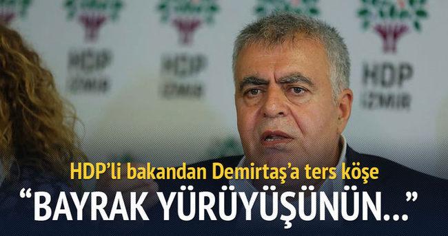 HDP'li bakandan Demirtaş'a ters köşe