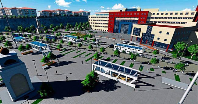Metroya entegre kent meydanı