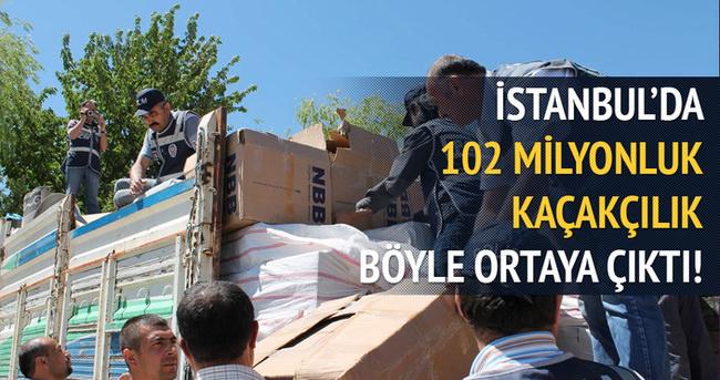 İstanbul'da dev kaçakçılık operasyonu!