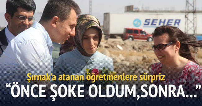 Şırnak'a atanan öğretmenlere sürpriz