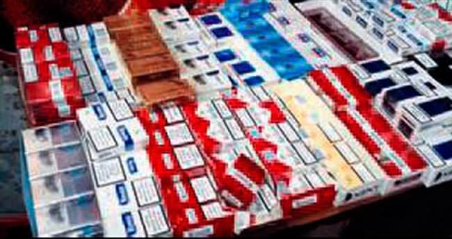 Şüpheli minibüste 50 bin paket kaçak sigara ele geçti