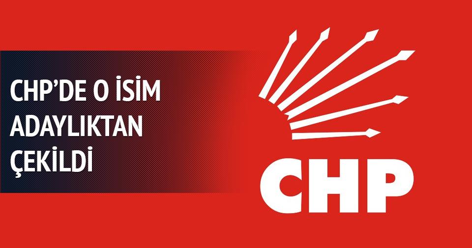 CHP Milletvekili adaylıktan çekildi!