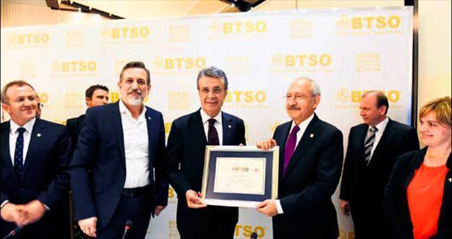 Kılıçdaroğlu, BTSO'da istişare toplantısına katıldı
