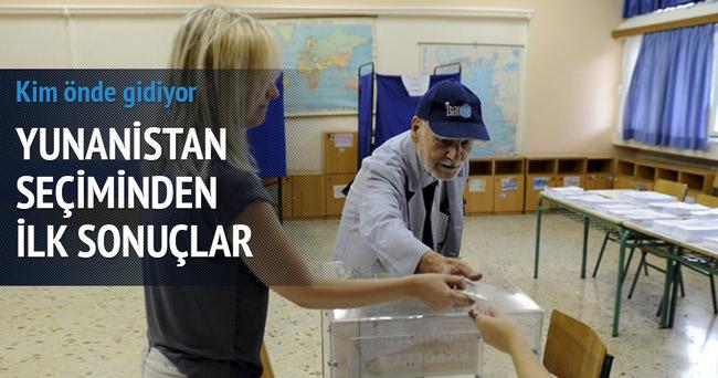 Yunanistan'daki seçimden ilk sonuçlar geldi