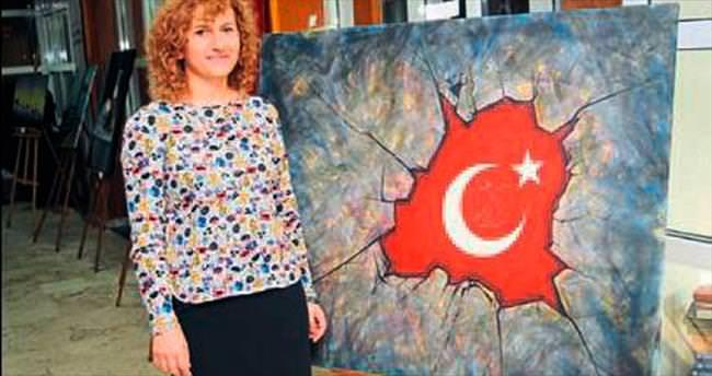 Türkün gücünü tuvale yansıttı