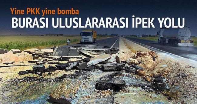 Teröristler uluslararası ipek yoluna saldırdı