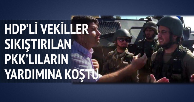 HDP'li vekiller PKK'lılara operasyonu engellemek istedi