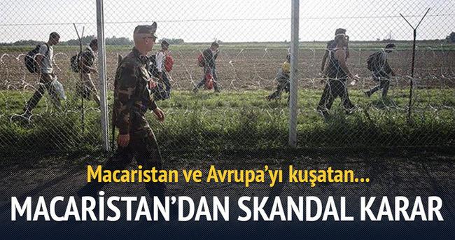 Macaristan'dan skandal karar