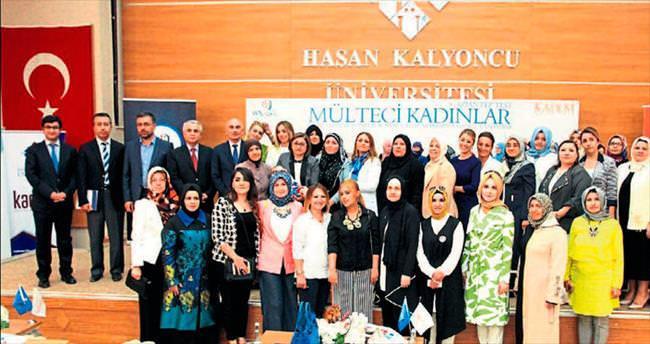 Mülteci kadınlar proje konusu oldu