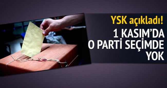 YSK'dan o partiye izin çıkmadı