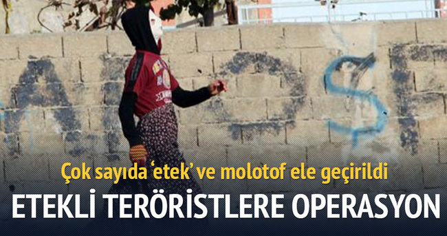 Etekli teröristlere baskın