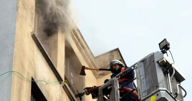 HDP Beşiktaş ilçe binası yandı