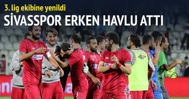 Sivasspor erken havlu attı