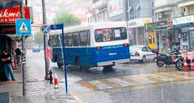 Fethiye'de sonbaharın ilk yağmuru
