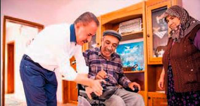 Bayram öncesi engellilere hediye