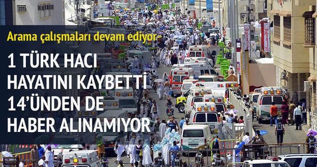 Kutsal topraklarda yaşanan faciada 1 Türk hayatını kaybetti