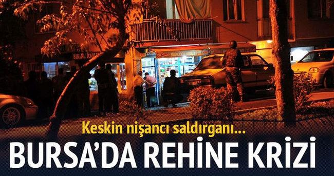 Bursa'da rehine krizini keskin nişancı sonlandırdı