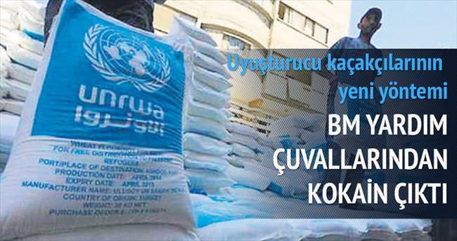 BM yardım çuvallarından kokain çıktı