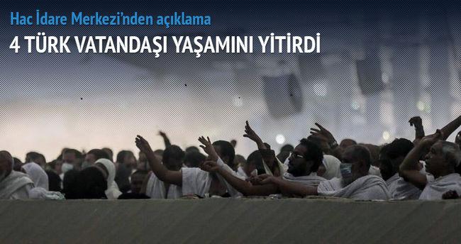 Mina'daki izdihamda 4 Türk yaşamını yitirdi